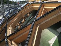 DeuxEtDemi Deux Et Demi Deux&Demi Deux & Demi Auditorium Voile solaire sphère Bouygues construction tempo sodexo charpente bois