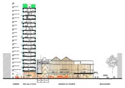 DeuxEtDemi Deux Et Demi Deux&Demi Deux & Demi Novaxia charpente structure bois Tour logements Prouvé